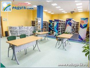 Столы на металлокаркасе для библиотек