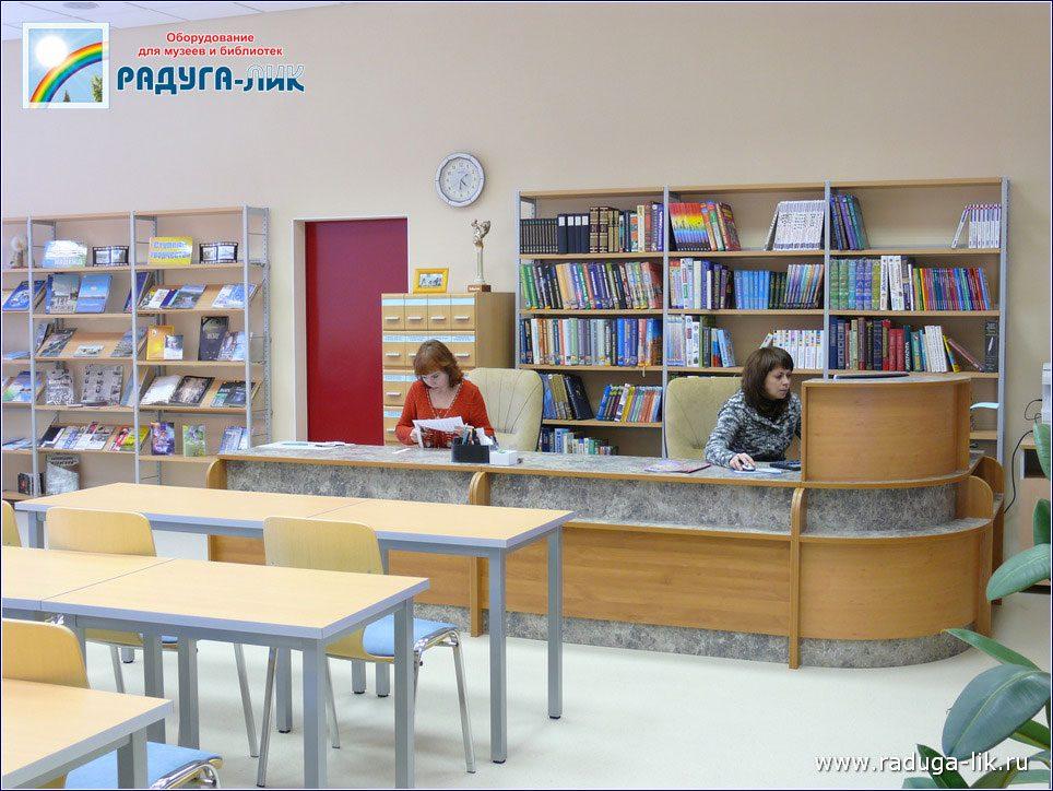 Модульная угловая кафедра для библиотеки.