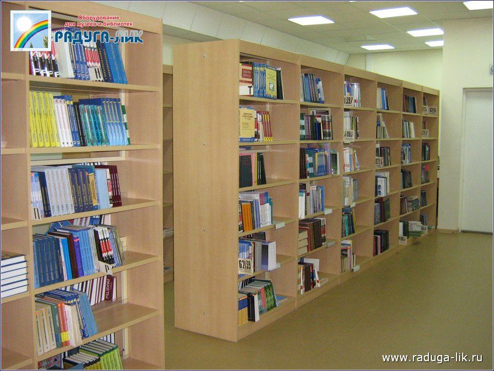 Двухсторонние библиотечные стеллажи для книгохранилищ и абон.