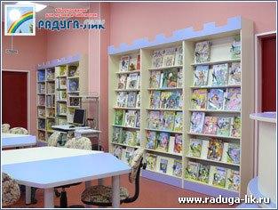 Стеллаж «Крепостная стена» для детской библиотеки