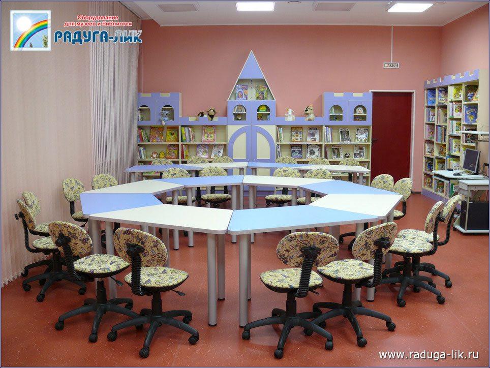 Мебель для детской библиотеки фото